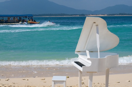 Piano on the beach photo