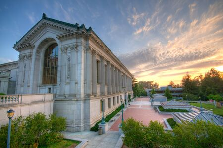 The photo of the beautiful building in University of California at Berkeley