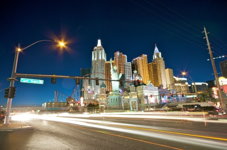 New York skyline in Las Vegas on 4th July in Las Vegas