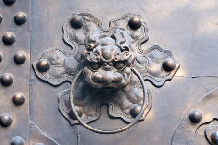 door knob: Ancient door knob in China Stock Photo