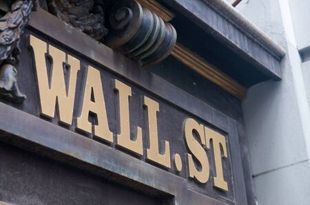 dow: World famous Wall Street in New York Editorial