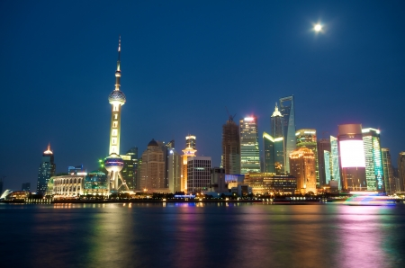 Shanghai Skyline at night  Hub of Asia photo