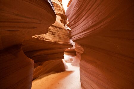 Inside the antelope canyon in arizona Stock Photo