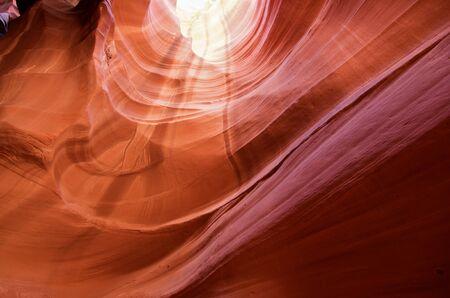 Inside the antelope canyon in arizona Stockfoto