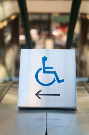 wheelchair access: Silver Handicap Wheelchair access sign