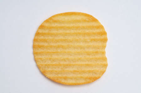 A piece of potato chips isolated on white background