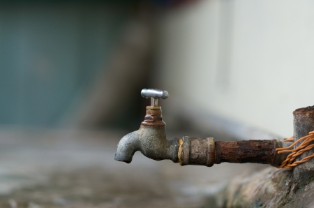 Dripping water faucet outdoor