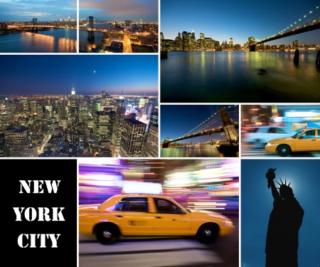 A collage of new york city photo