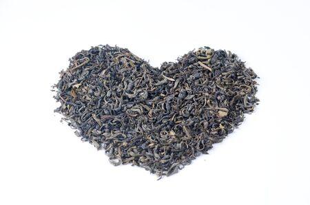 tannin: I love tea heart shape Stock Photo