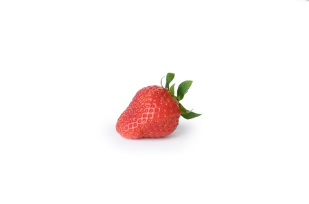 Red strawberry in isolated white background