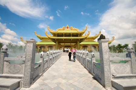 Dai Nam Temples and Safari park in Vietnam. Tourist, Cultural and Historical Zone  photo