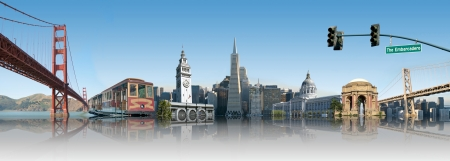 San Francisco Landmark Skyline Montage
