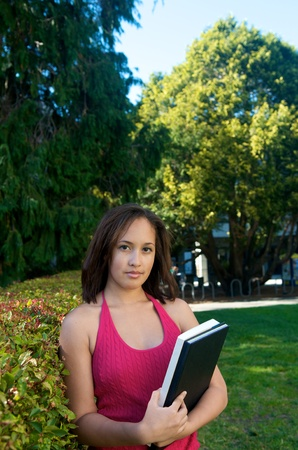 Student girl in the nature photo