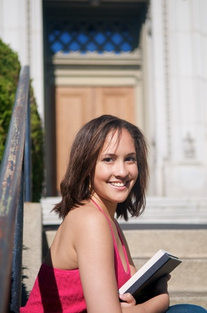 young Student girl on the campus photo