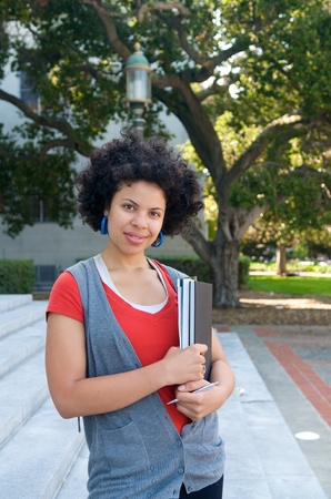 African American Student girl on campus  photo