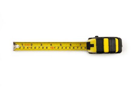 空撮から黄色のメジャー テープ 写真素材