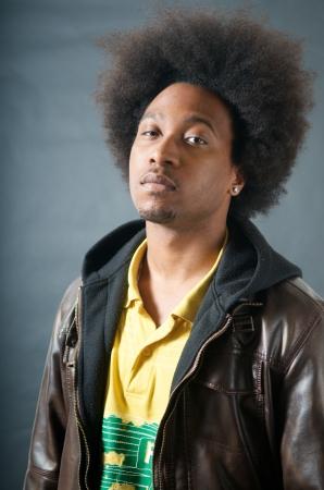 African American Teenager Afro look Stock fotó