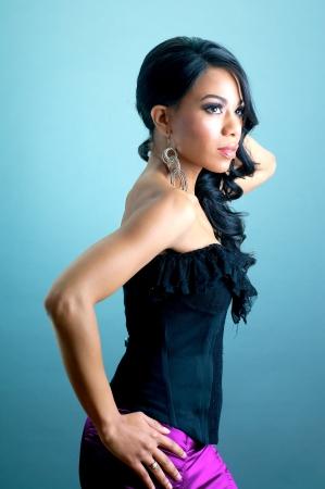 Hermosa mujer afroamericana