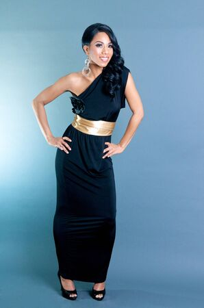 Beautiful African American Woman posing with hands on waist