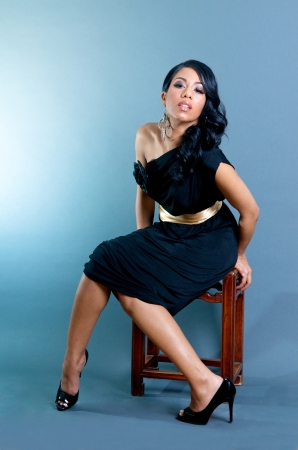 Sexy Woman African American posando