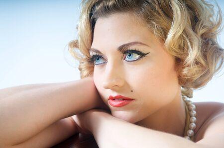 close ups: beautiful blond woman close ups