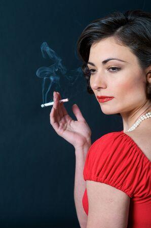 Portrait of beautiful caucasian model studio Stockfoto