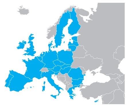 Mapa de color azul de Europa