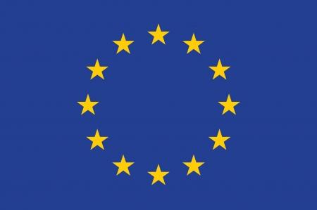 欧州連合 EU の旗  イラスト・ベクター素材