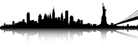 ニューヨークのスカイラインのベクトル部分