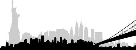Parte vettoriale della skyline di New York Archivio Fotografico - 15513383