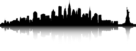 Vector deel van de skyline van New York