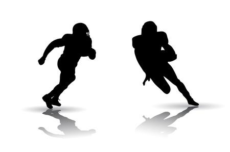 アメリカン フットボールのシルエット ベクトルのセット