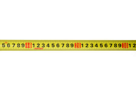 Yellow centimeter Measure tape horizontal 版權商用圖片