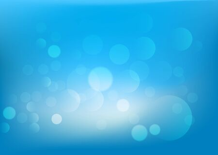 bubble background: Blue Vector bubble lights abstract as background