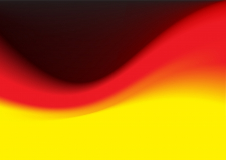 smooth curve design: Smooth German flag Vector curve Wave as background