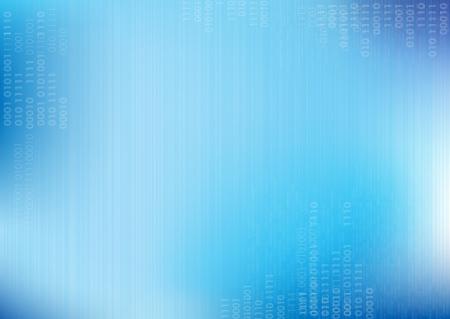 파란색 벡터 라인 이진 코드로 배경 일러스트