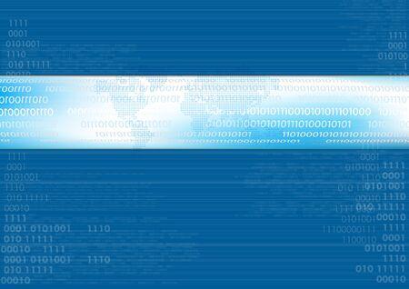 codigo binario: L�neas de vector de fondo azul con c�digo binario