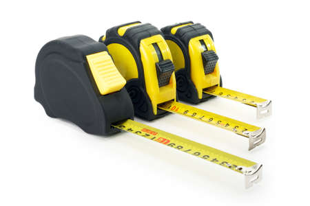 Yellow Measure tape from aerial view