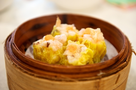 Siewmai is a Cantonese dim sum specialty in Asia