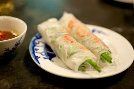 Vietnamese special delicatessen spring rolls