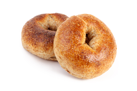 bagel: two Bagels isolated on white