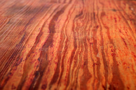 Old retro red wooden surface pattern texture with perspective
