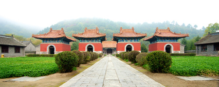 emperor of china: The first emperor pagoda entrance of the Qing Dynasty in China Kuandian Editorial