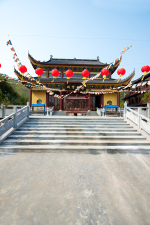 ding: Mahavira Hall temple in Moganshan, China. Stock Photo