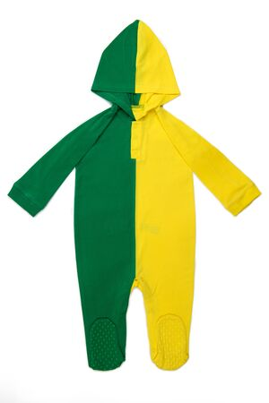 hoody: Long Sleeve Hoody Baby clothes in Brazilian colors on white background
