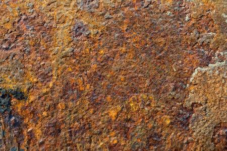 oxidized: Rusty viejo marr�n de metal oxidado de fondo grunge