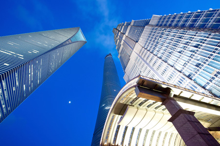 jin mao tower: Shanghai, China - August 6, 2014: An amazing view of Shanghai 3 tallest tower Editorial