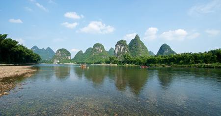 guilin: Beautiful river in Yangshuo Guilin in Guangxi province in China