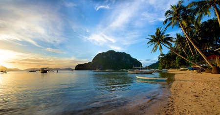 palawan: El Nido coastal area in the Palawan Island in the Philippines. Stock Photo