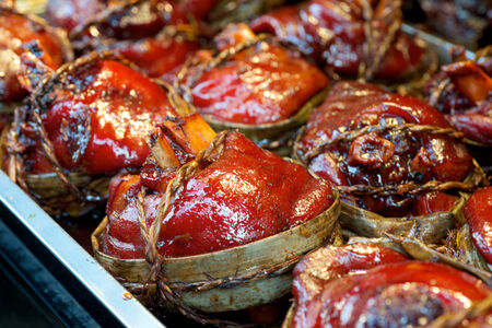 knuckle: Pork knuckle delicacy food in China